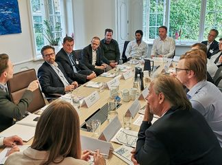 Work meetings as part of the Bavarian delegation trip to Sweden and Norway in 2019