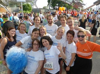 The Bayern International team and Invest in Bavaria at the company run in Munich in 2014